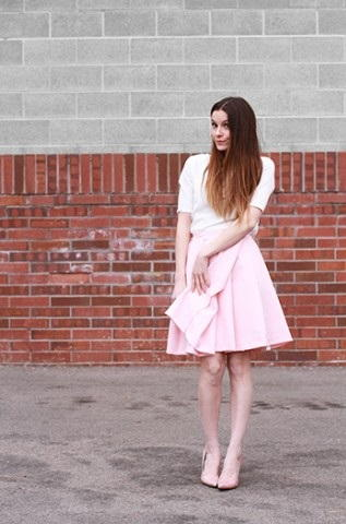 Cotton Candy Pleated Skirt Tutorial