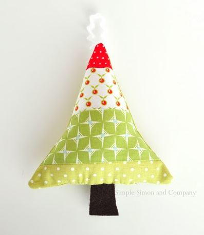 Festive Fabric Christmas Tree Ornament