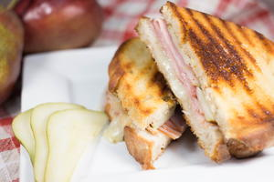 Brie, Ham, and Pear Panini
