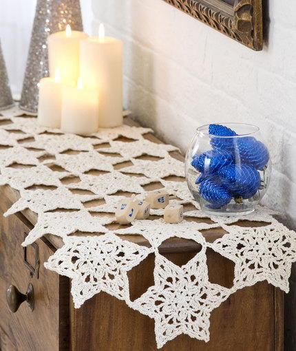 Star Bright Crochet Table Runner Allfreecrochet