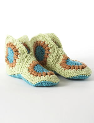 Cute and Cozy Granny Square Slippers