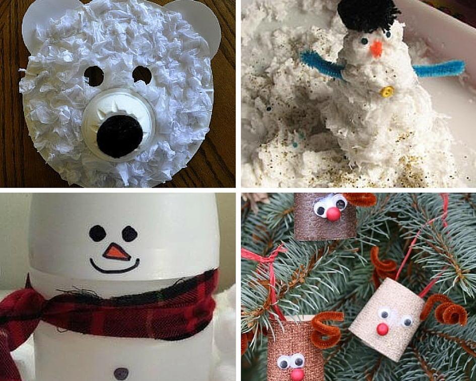 Recycled Crafts For Kids 18 Winter Crafts Allfreekidscrafts