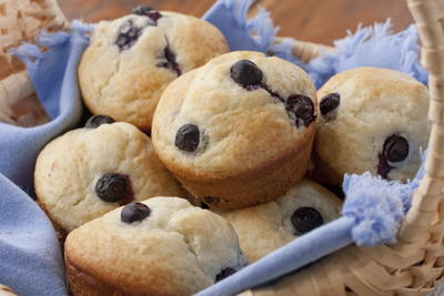 Shortcut Blueberry Muffins