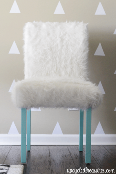 Faux Fur DIY Office Chair