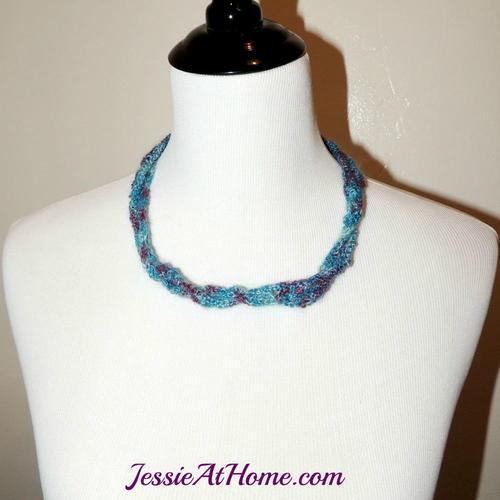Mesh Crochet Necklace Tutorial Allfreecrochet