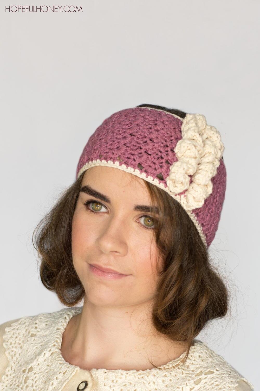 1920s Rose Swirl Crochet Headband | AllFreeCrochet.com