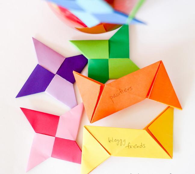 Origami Ninja Star Thankful Ornament Crafts Allfreepapercrafts