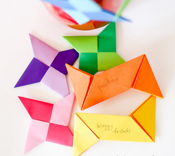 Origami Ninja Star Thankful Ornament Crafts