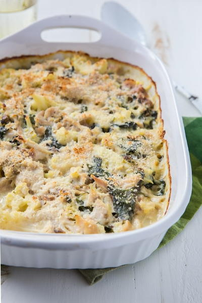 Chicken Cheese and Cauliflower Casserole