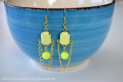Yellow Neon Pop Earrings
