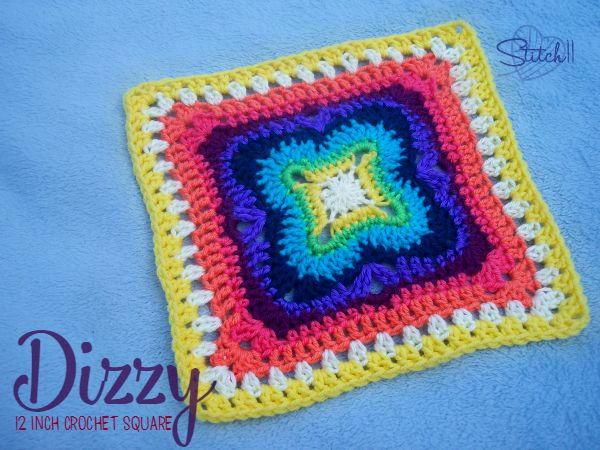 Large And Dizzy Crochet Granny Square Allfreecrochetafghanpatterns