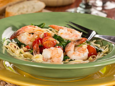 Garlic Shrimp and Spinach