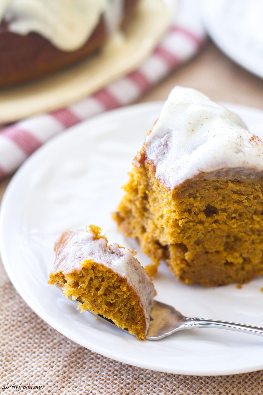 Cream Cheese Glazed Pumpkin Bundt Cake | RecipeLion.com