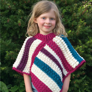 Fall Shades Crochet Poncho Pattern