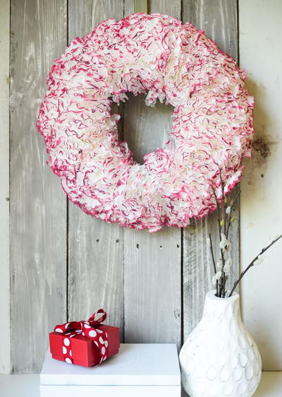Watercolored Coffee Filter Wreath