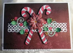 Candy Cane Berry Swirl Christmas Card