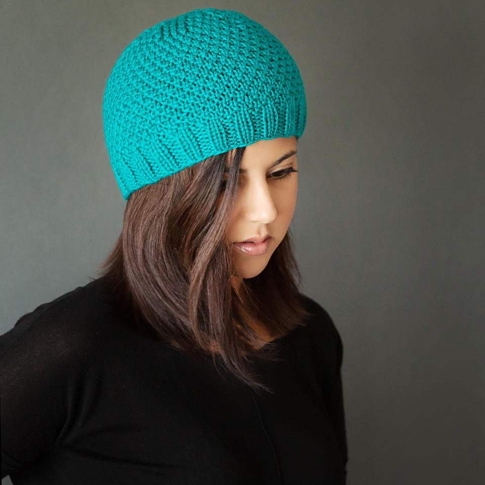 Chic knit beanie pattern allfreeknitting bankloansurffo Choice Image