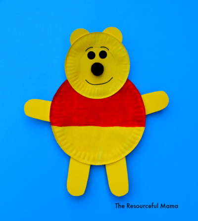 Winnie the Pooh Paper Plate Craft.   : art and craft with paper plates - pezcame.com