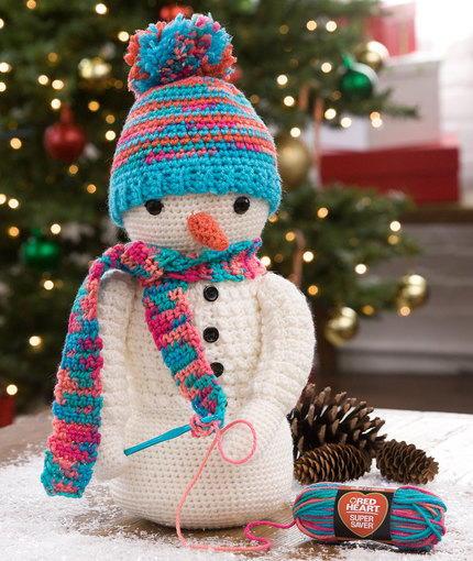 Crazy Cute Crocheting Snowman Allfreecrochet