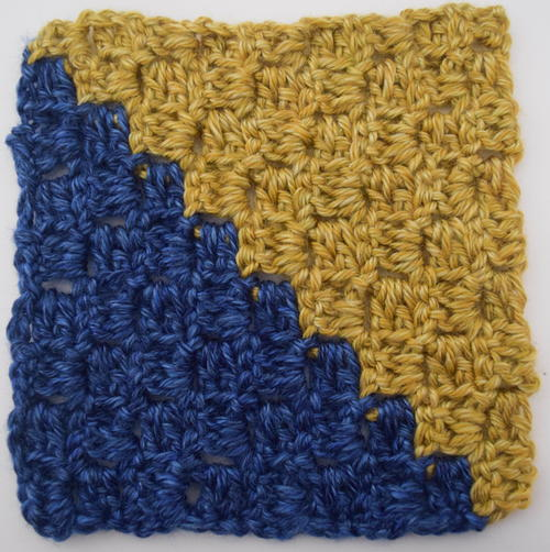 Diagonal Box Stitch Granny Square Crochet Pattern