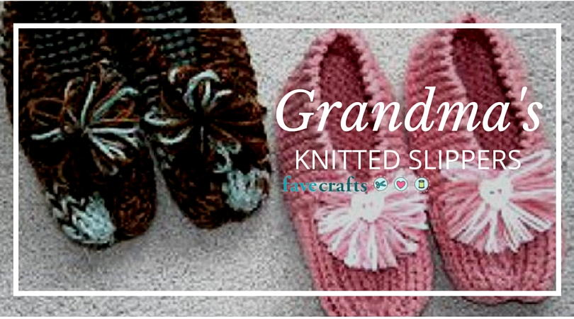 Sirdar Snuggly Knitting Patterns : How to Knit Grandmas Knitted Slippers: Free Knitting Pattern FaveCraft...
