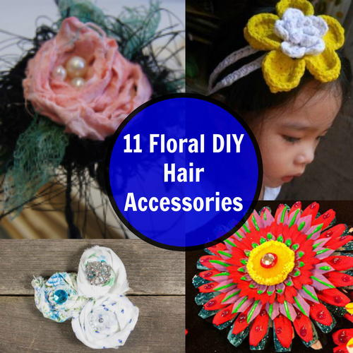 11 Floral DIY Hair Accessories