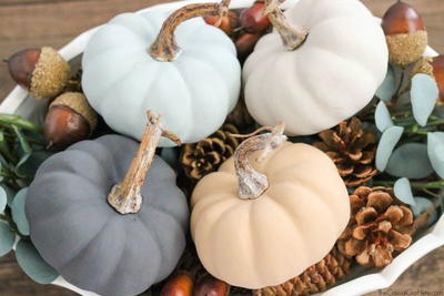 Painting Pumpkins with Chalkboard Paint