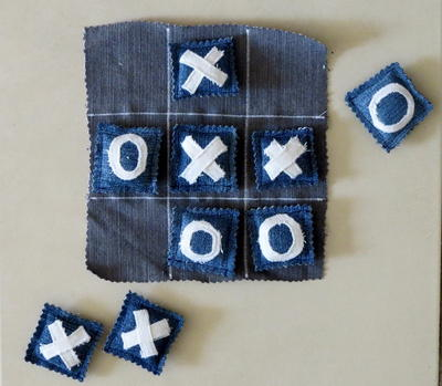 Upcycled Denim Tic Tac Toe