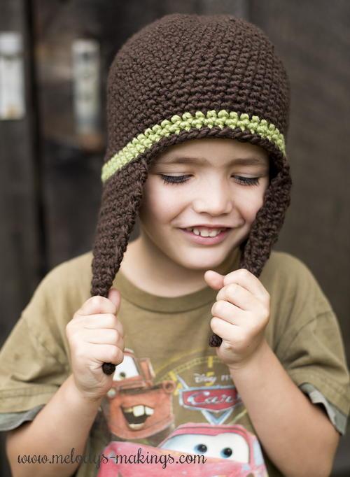 I-Cord Earflap Hat Crochet Pattern | AllFreeCrochet.com