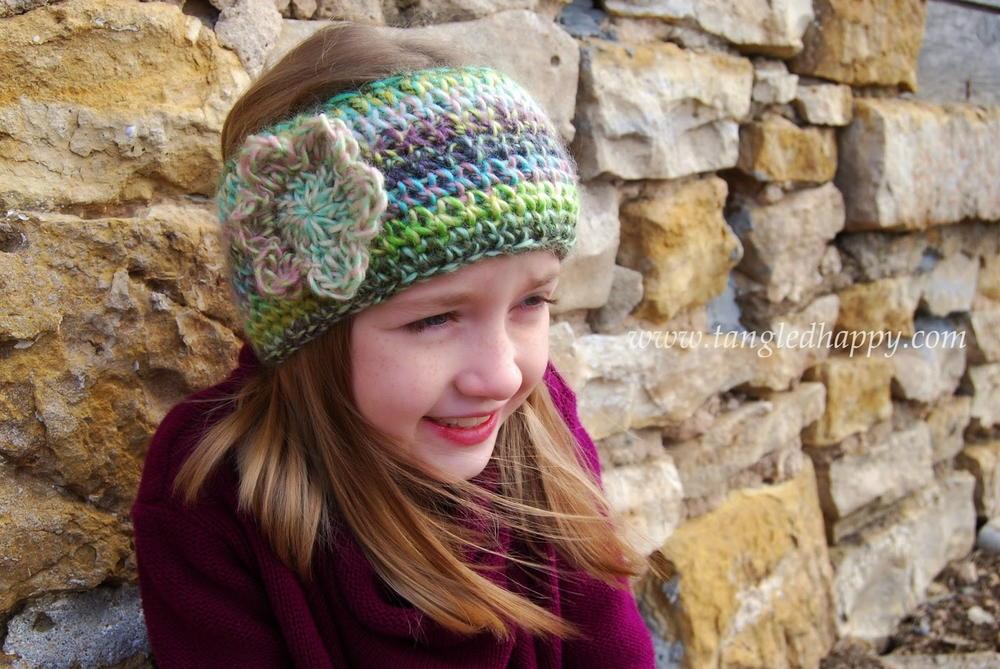 One Hour Boho Chic Crochet Ear Warmer Allfreecrochet