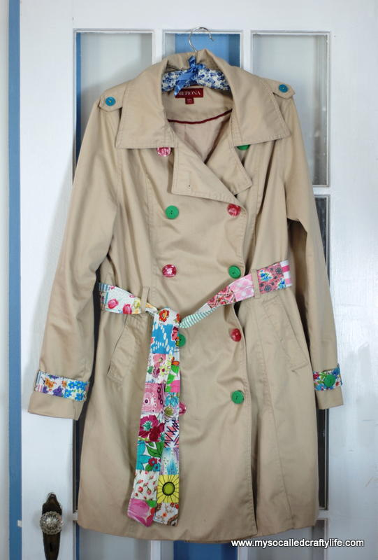 Upcycled Spring Trench Coat Allfreesewing Com