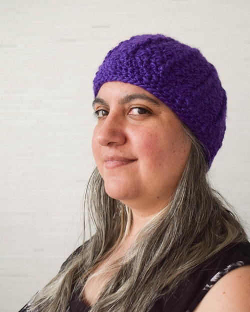 Not Quite Slouchy Crochet Hat Pattern