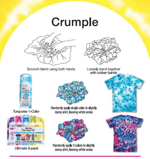 Crumple tie dye technique from tulip for How do you dye a shirt