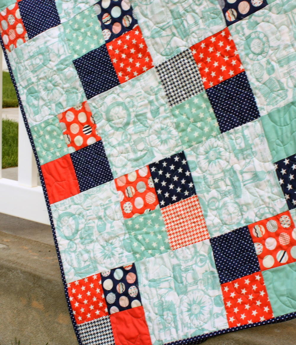 Freaky Fast Four Patch Quilt Favequilts Com