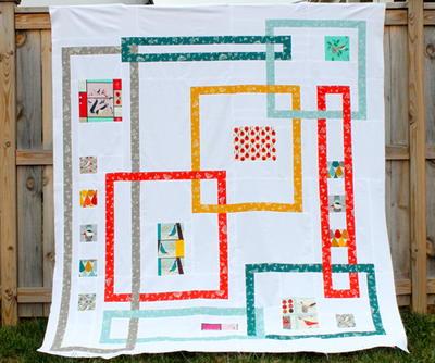 Interlock Modern Quilt Pattern   FaveQuilts.com : quilting patterns modern - Adamdwight.com