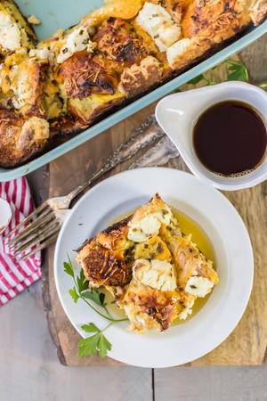 Savory Bagel French Toast Casserole