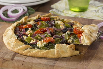 75 easy vegetarian recipes thatll fill you up mrfood rustic veggie pie forumfinder Choice Image