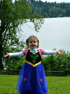 Frozen-Inspired Princess Anna Costume