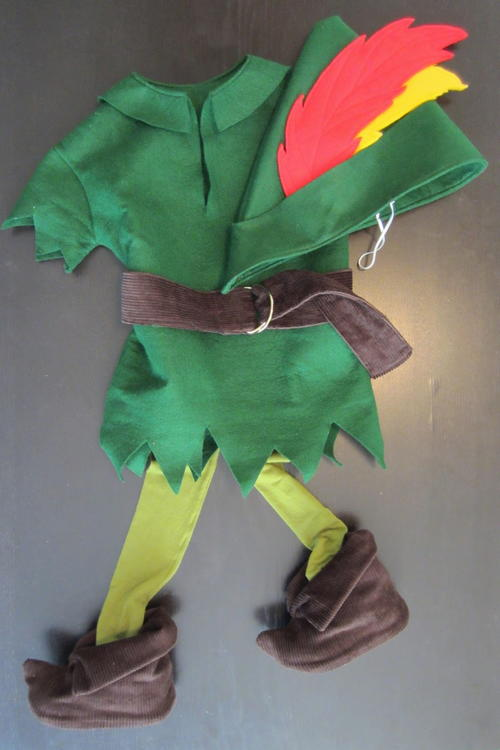 This Homemade Peter Pan Costume is perfect for the little boy in your life who will never grow up. Make a felt tunic hat belt and even shoe covers with ... & Homemade Peter Pan Costume | AllFreeSewing.com