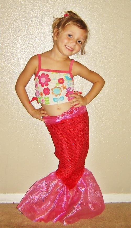 Mermaid Tail Sewing Pattern  sc 1 st  AllFreeSewing & Sparkly Mermaid Tale Halloween Costume | AllFreeSewing.com