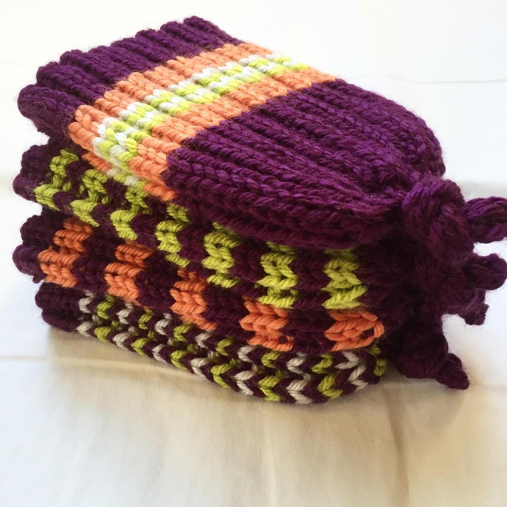 Skinny Rib Stretchy Baby Hat | AllFreeKnitting.com