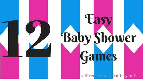 12 easy baby shower games allfreeholidaycrafts com