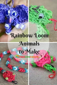 10+ Rainbow Loom Animals to Make: Easy Rainbow Loom Charms