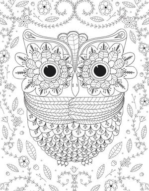 This Owl Is Featured In Our Free Printable Pdf Ebook  Adult Coloring Pages Get The Collection And Color In Several Of Our Popular Pages