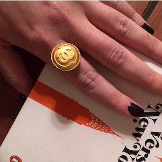 DIY Chanel Button Ring