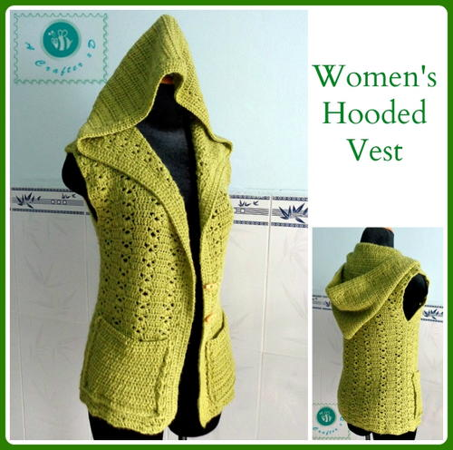 Hooded Crochet Vest