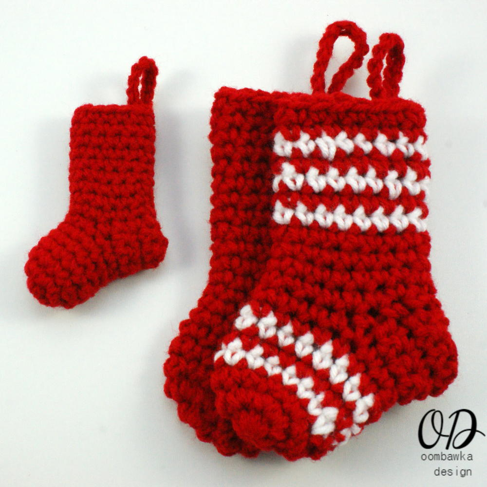 Little Christmas Stockings AllFreeCrochet.com