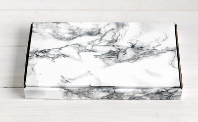 Marble Contact Paper Gift Box