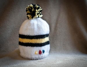 Steelers-Inspired Knit Baby Hat