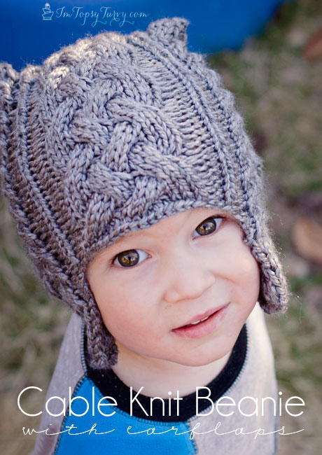 Childs Cable Knit Beanie
